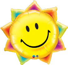 Sunshine Smile Face Large Foil Balloon 1pc